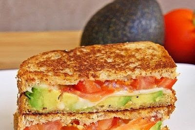 Avocado, Mozzarella, and Tomato Grilled Cheese