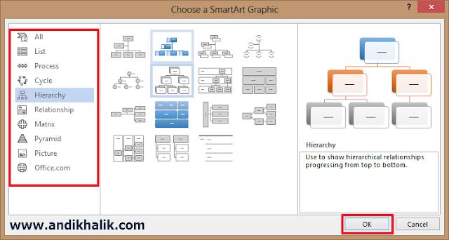Insert SmartArt Graphics
