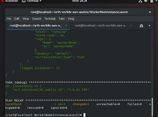 Worker Node Instance Launched