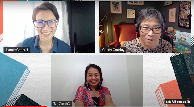 Manila International Book Festival panel with Lance Caperal, Candy Gourlay and Zarah Gagatiga