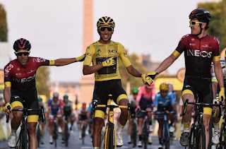 CICLISMO EN RUTA (Tour de Francia 2019) - Histórico el colombiano Egan Bernal que se convierte en el campeón más joven de la historia