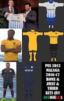 PES 2013 Malaga Kits 2016-17 By Antonelli & Vulcanzero