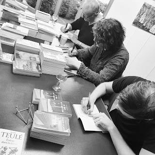 Jean Teulé, Arnaud Le Guilcher et Florent Oiseau Librairie Livres in Room Saint-Pol-de-Léon Pocket Apero littéraire Finistère