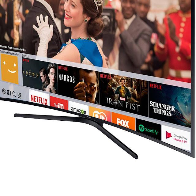 A TV Samsung MU6100 garante o melhor da tecnologia UHD, com painéis RGB e com fidelidade de cores, sem sub-píxel branco. Cerificada pelas principais associações internacionais do setor