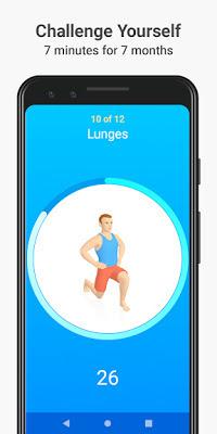 تطبيق Seven 7 Minute Workout لتدريب العضلات