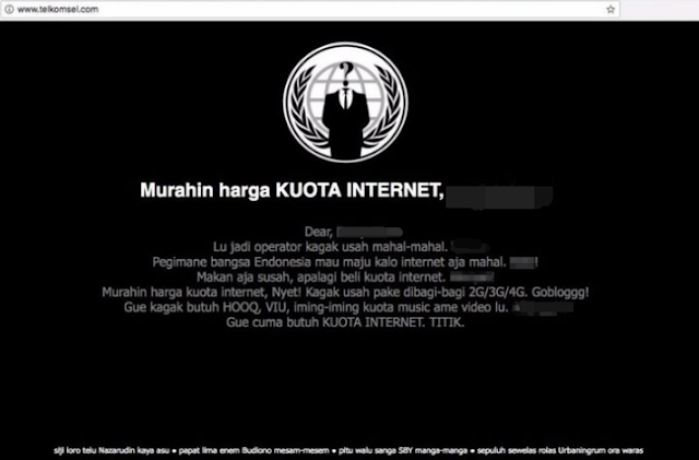 """""""Murahin Harga Kouta Internet"""" - Situs Resmi Telkomsel Diretas"""