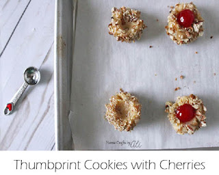 Thumbprint Cookies with Cherries