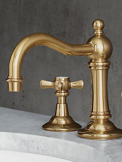 vintage cross handle bathroom faucet