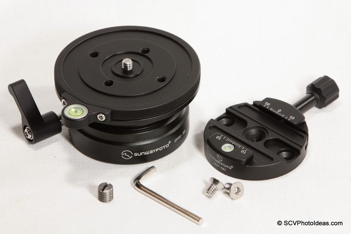 Sunwayfoto DYH-90 w/ DDY-64iL QR clamp + screws & hex key