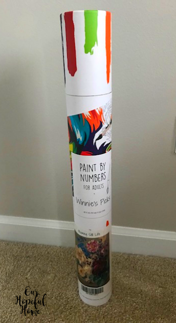 paint by numbers mailing tube