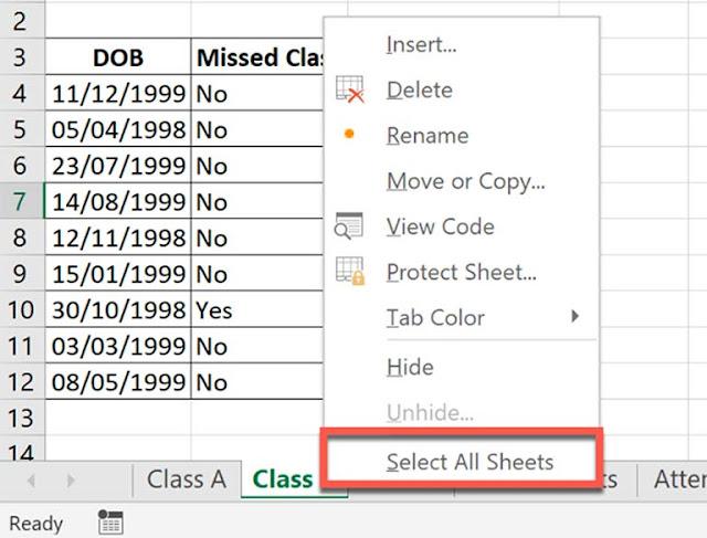 Cara Mengelompokkan Lembar Kerja (Worksheet) Di Microsoft Office Excel