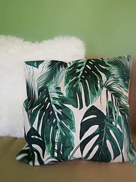 palm leaf print, palm leaves, print, uzorak, summer, ljeto, vibes, palmin list, jastuk, pillow, cushion, pillow case, jastučnica