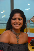 Mega Akash in a sleeveless Off Shoulder Cute Dress Stunnign beauty at Radio Mirchi Promoting Movie LIE ~ Celebrities Galleries 024.JPG