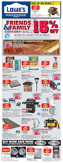 Lowe's Flyer Saving Card valid July 18 - 24, 2019