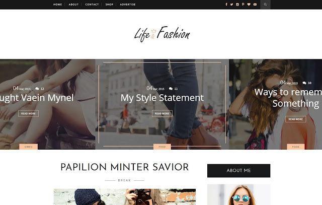 Life-Fashion Responsive Personal Blog Fashions Lifestyle Blogger Template Theme
