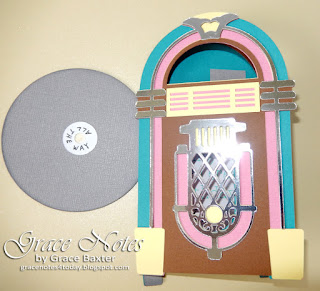 Jukebox b-day card front, by Grace Baxter