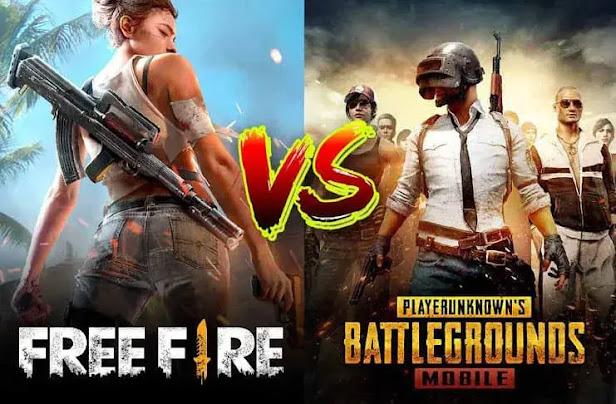 أي لعبة أفضل: Pubg Mobile أم Free Fire؟
