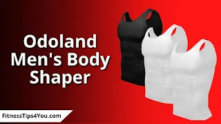 Odoland Men's Body Shaper Slimming Shirt