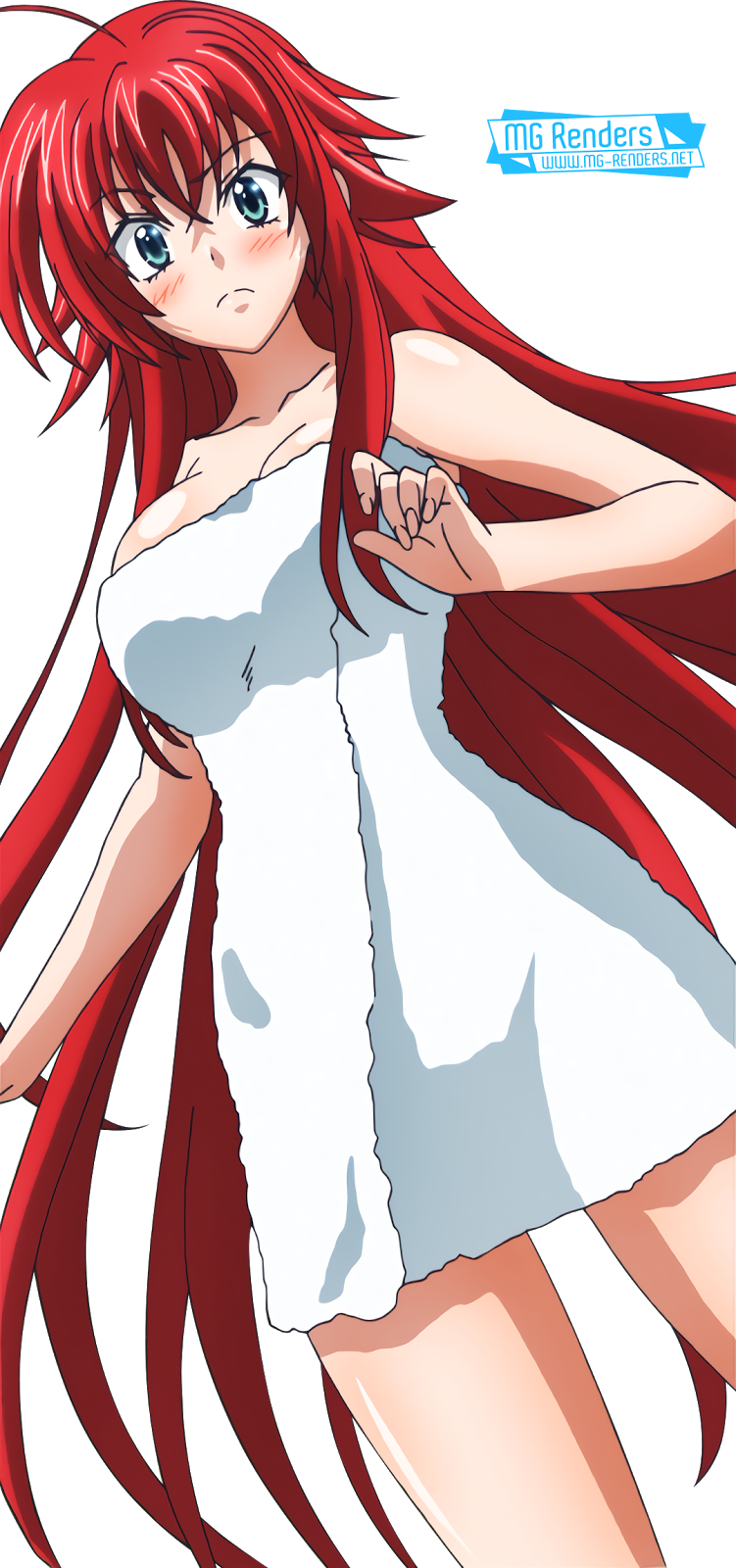 Tags: Anime, Render,  High School DxD, ハイスクールD×D, Haisukūru D×D,  Rias Gremory, リアス・グレモリー,  Towel, PNG, Image, Picture
