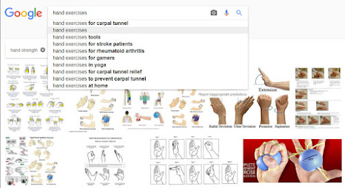Google search for exercises and stretching