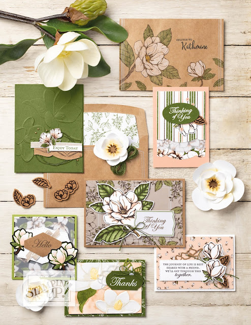 Nigezza Creates, Stampin Up Magnolia Lane Memories and more cards