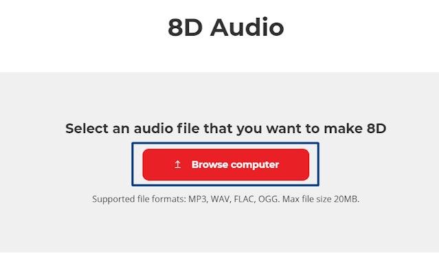 Choose your audio file