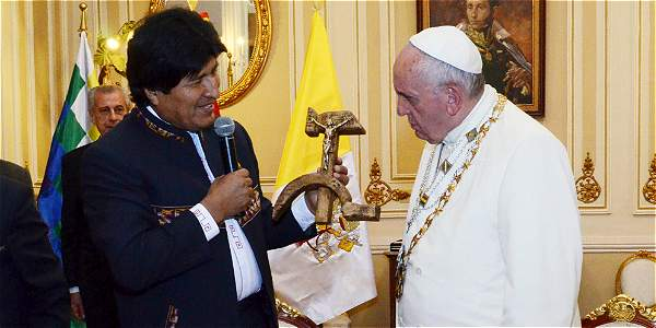 Evo Morales, criticized for wanting to 'politicize' the Pope's visit