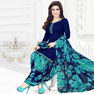 Rheyali Elegant Crepe Women's Suits & Dress Materials