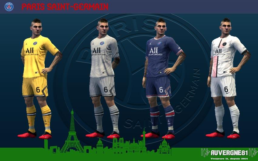 Kits Paris Saint-Germain 2021-2022 For PES 2013