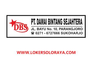 Lowongan HRD Pabrik Plastik Sukoharjo di PT Damai Bintang Sejahtera