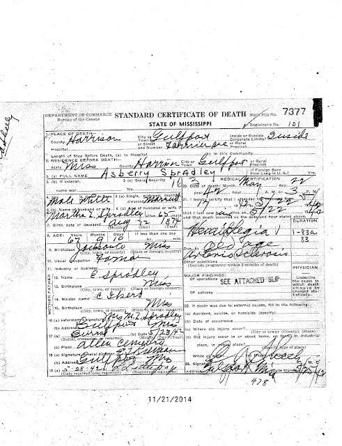 Spradley Genealogy