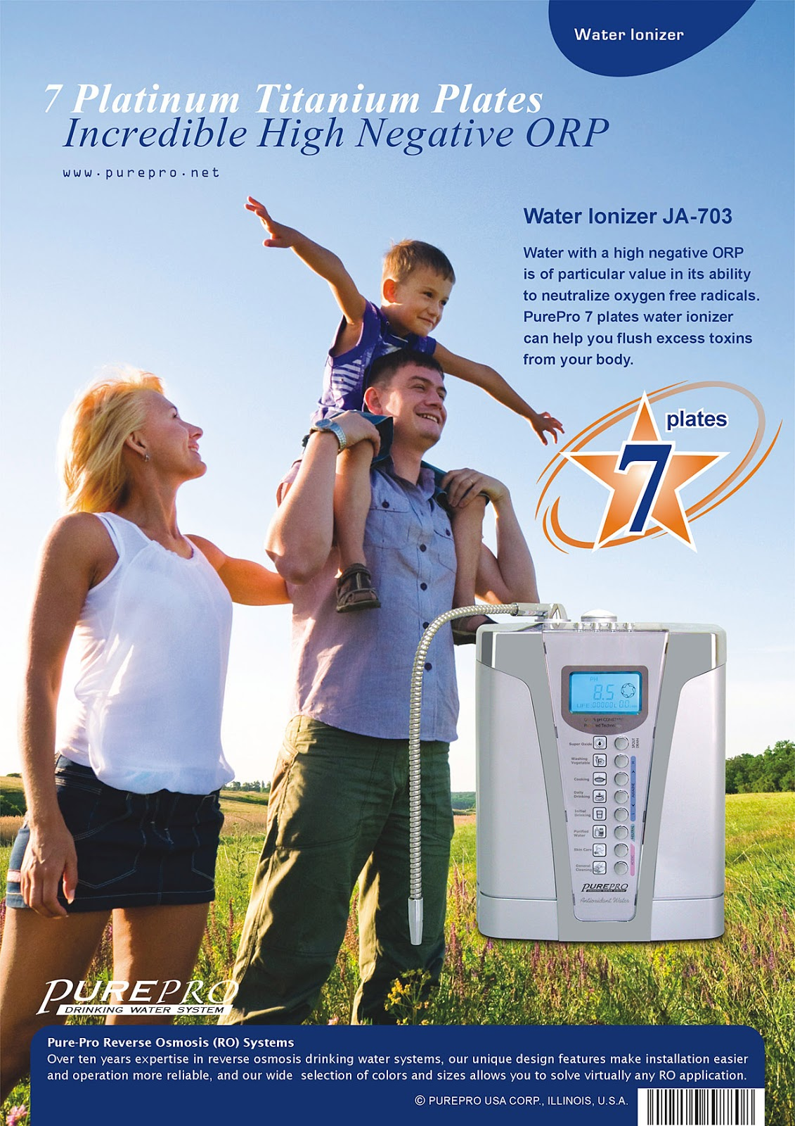 Best Water Ionizer That You Can Use - PurePro USA Water Ionizer JA-703