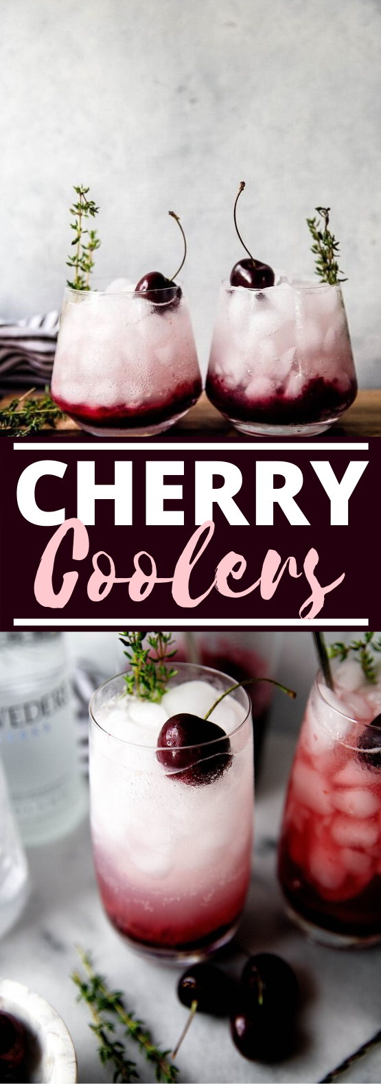 Fresh Cherry Coolers #drinks #alcohol #cocktails #vodka #refreshing