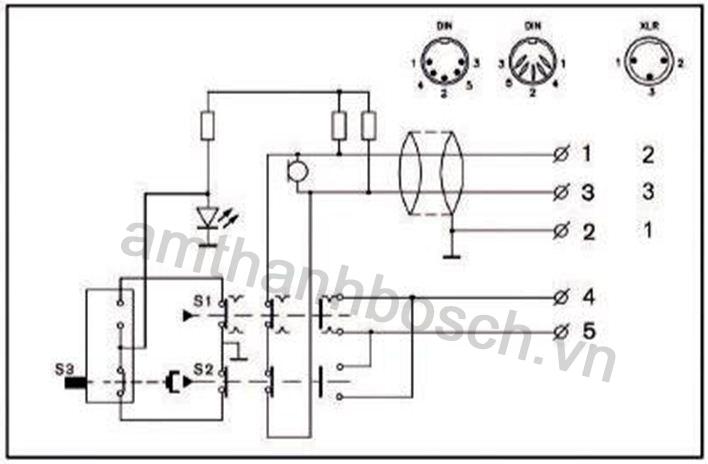 micrô tụ điện một hướng để bàn Plena LBB 1950/10