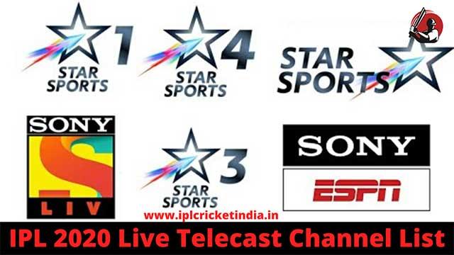 IPL 2020 live telecast channel list
