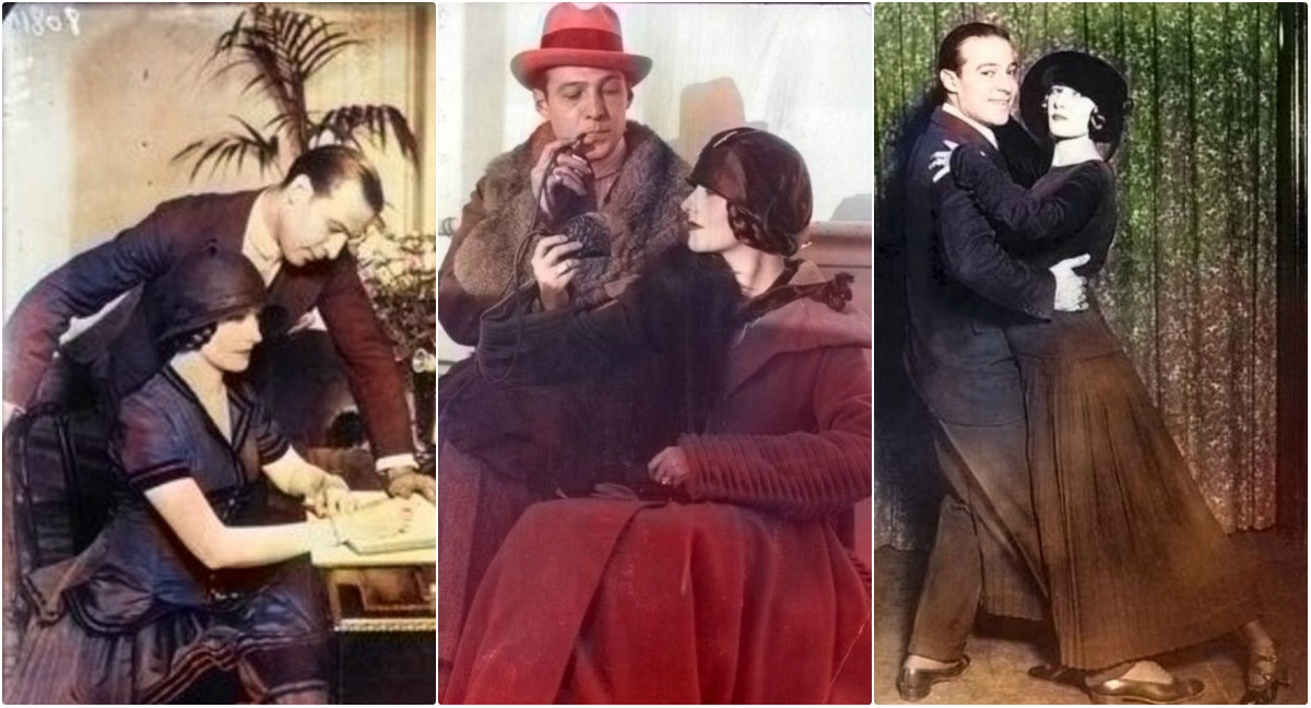 31 Beautiful Colorized Pics of Rudolph Valentino and Natacha Rambova During Their Short Marriage