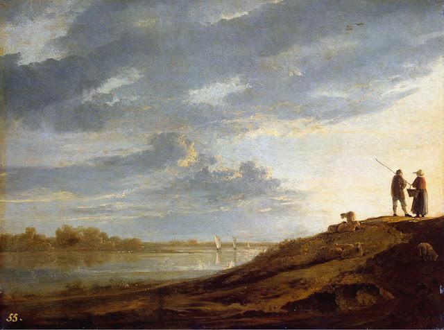 Альберт Кёйп - Рассвет над рекой. 1650-е