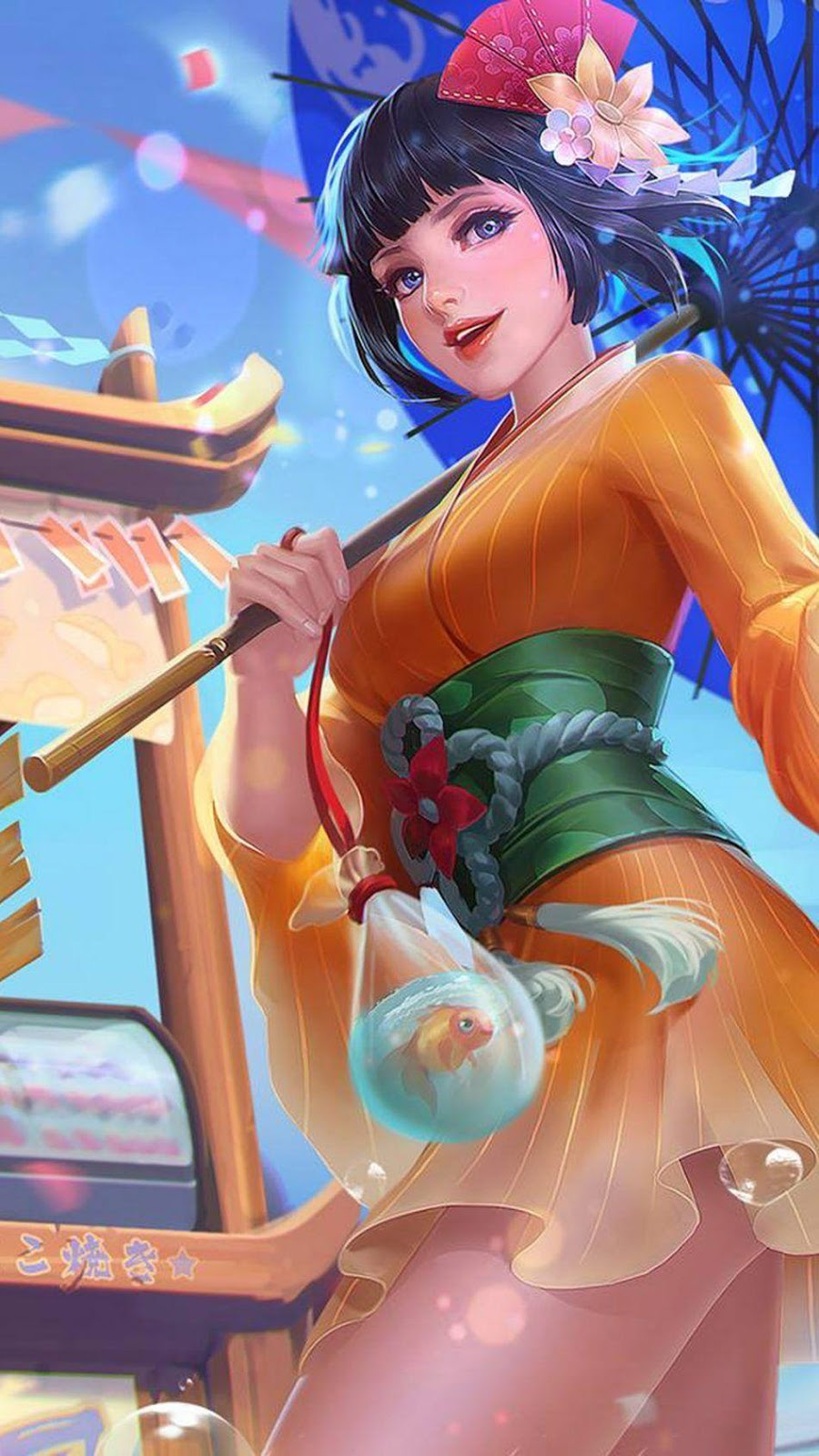 Wallpaper Kagura Summer Festival Skin Mobile Legends Full HD for Android and iOS