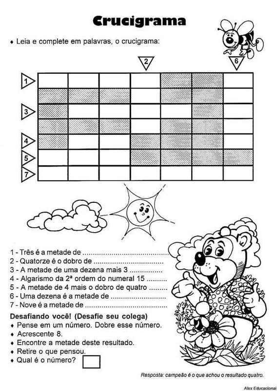 Matemática 4 Ano Atividades Exercícios Imprimir V Atividades E