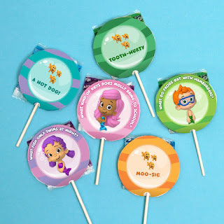 bubble guppies party favours