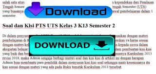 Soal dan Kisi kisi PTS UTS Kelas 3 K13 Semester 2