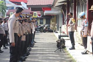 Pimpin Apel Kesiapan Pengamanan Demo, Kapolres Pelabuhan Makassar Tekankan Ini