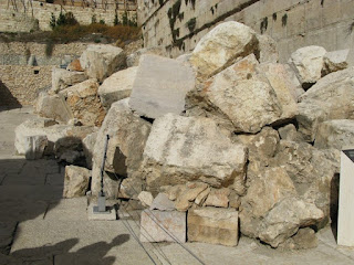 Stones from the Temple Mount in Jerusalem