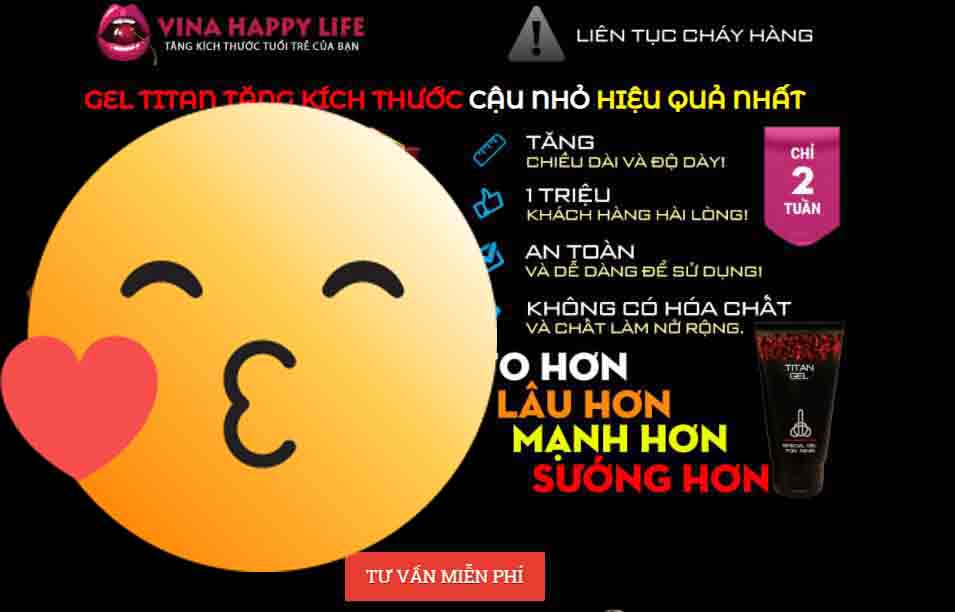 Giao diện blogspot lading page Tital Gel