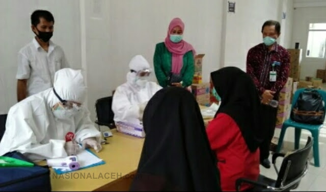 20 Karyawan Swalayan di Abdya Lakukan Rapit Test