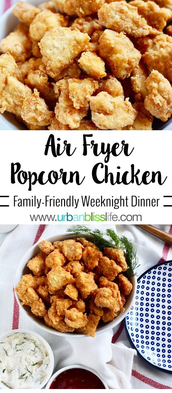 Air Fryer Popcorn Chicken