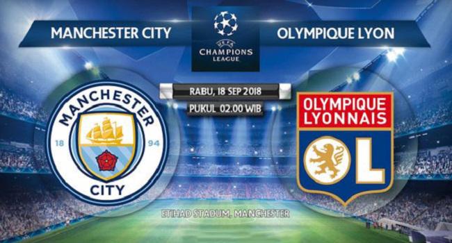 siaran langsung manchester city vs lyon pada liga champions 2018-2019