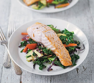 grilled salmon with kale salad recipe