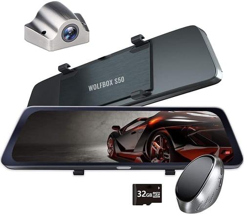 WOLFBOX IDR Waterproof Mirror Dash Cam