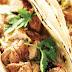 Tacos με χοιρινό, ρύζι & κόλιανδρο